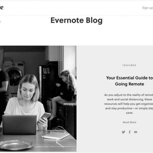 Блог Evernote